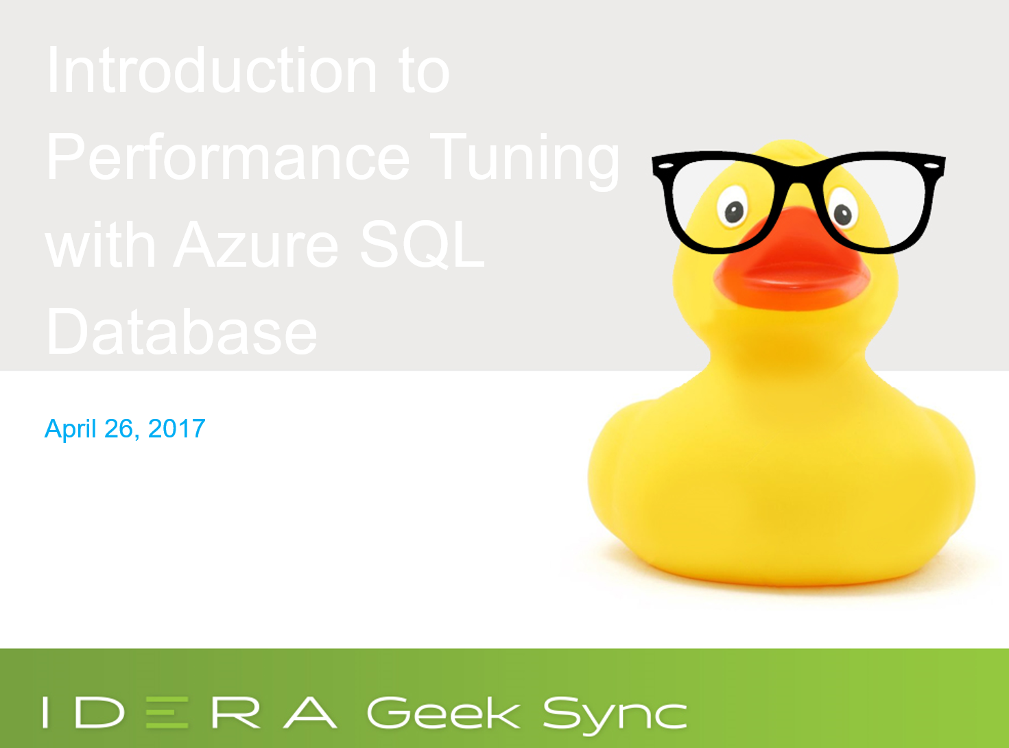 Introduction to Performance Tuning in Azure SQL Databases